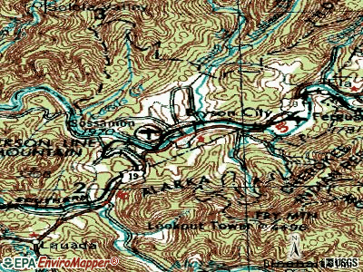 Bryson City topographic map