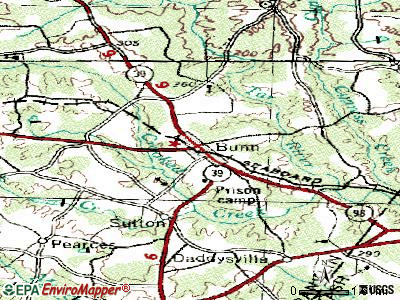 Bunn topographic map