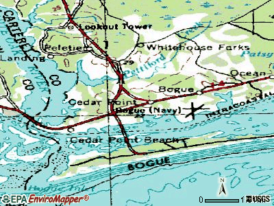 Cape Carteret topographic map