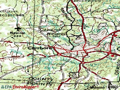 Carrboro topographic map