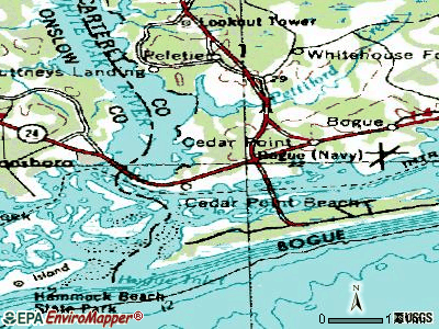 Cedar Point topographic map