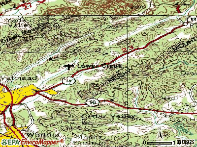 Cedar Rock topographic map