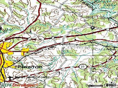 Claremont topographic map