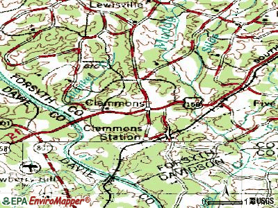 Clemmons topographic map