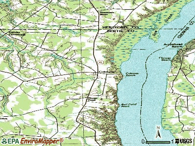 Colerain topographic map