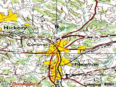 Conover topographic map