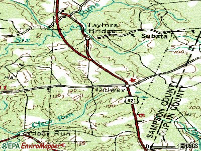 Delway topographic map
