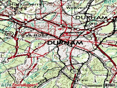 Durham topographic map