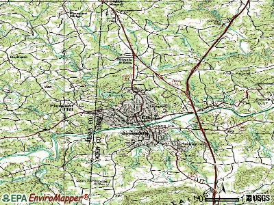 Elkin topographic map