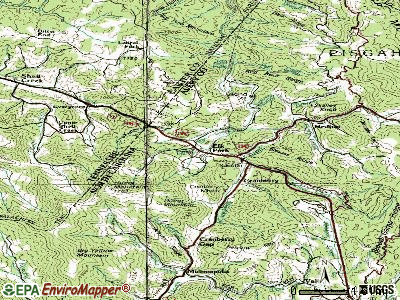 Elk Park topographic map