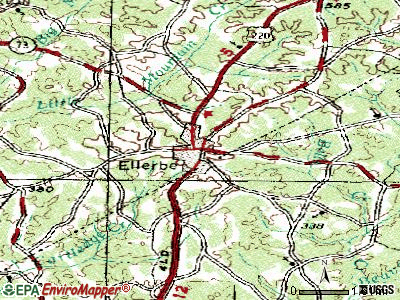 Ellerbe topographic map