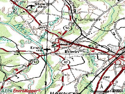 Enochville topographic map
