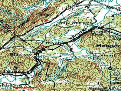 Etowah topographic map
