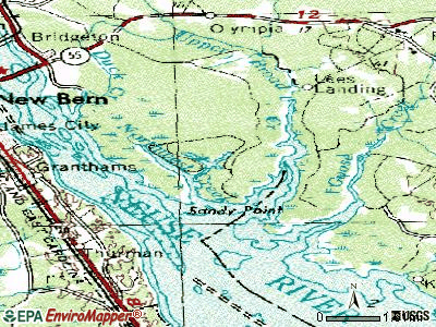Fairfield Harbour topographic map