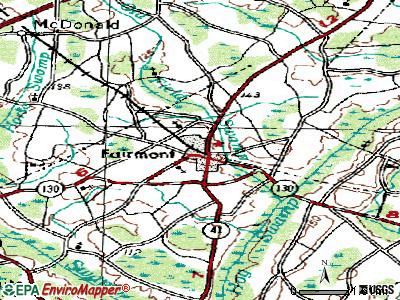 Fairmont topographic map