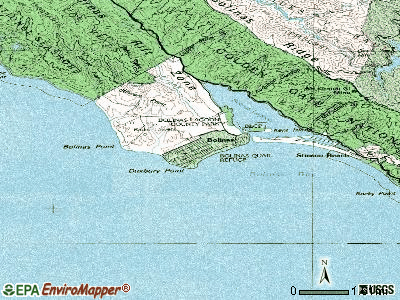 Bolinas topographic map