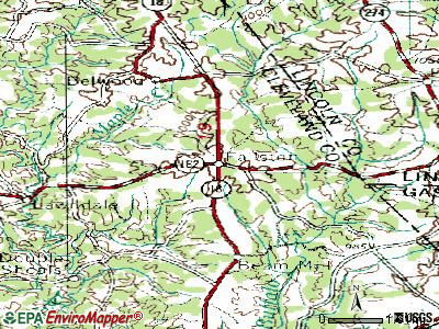 Fallston topographic map