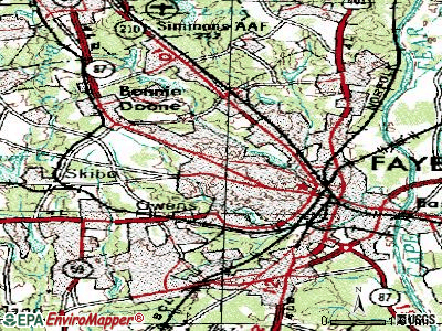 Fayetteville topographic map