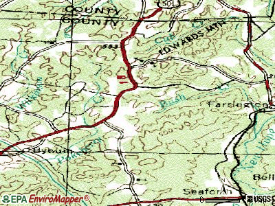 Fearrington topographic map