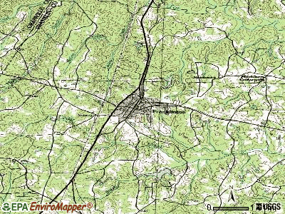 Franklinton topographic map
