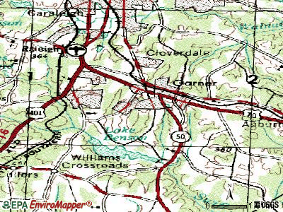 Garner topographic map