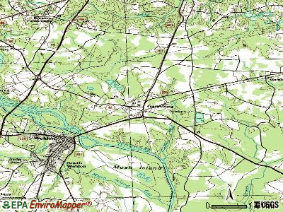 Garysburg topographic map