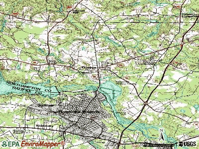 Gaston topographic map