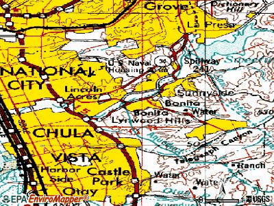 Bonita topographic map