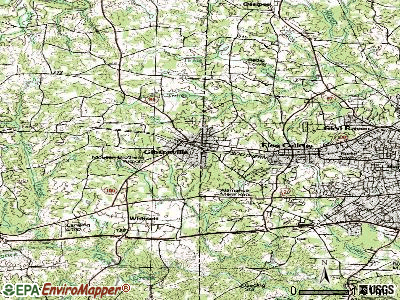 Gibsonville topographic map