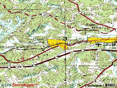 Glen Alpine topographic map