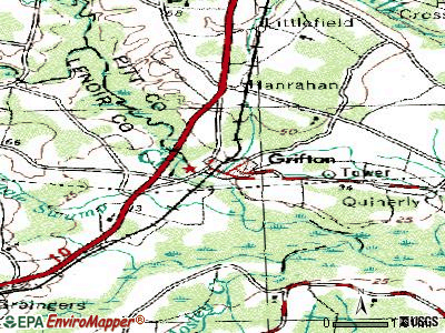 Grifton topographic map