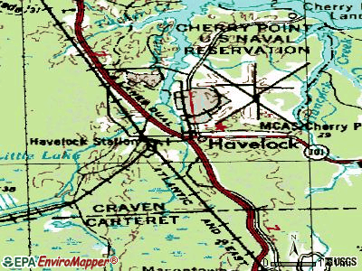 Havelock topographic map
