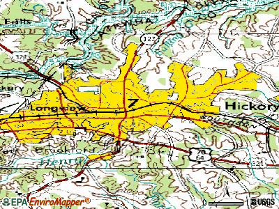 Hickory topographic map