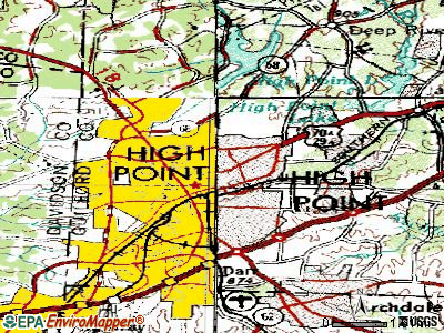 High Point topographic map