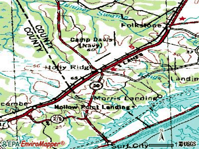 High Shoals topographic map