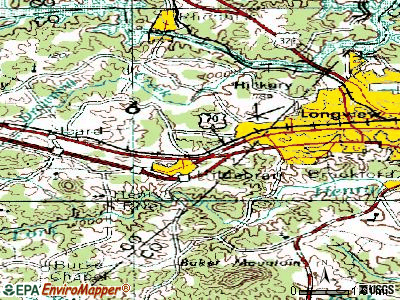 Hildebran topographic map