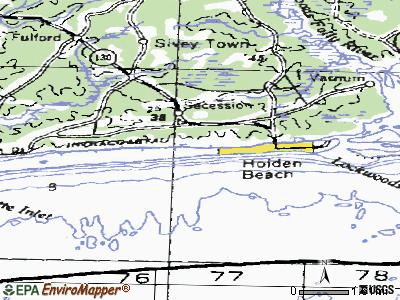 Holden Beach topographic map