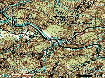 Hot Springs topographic map