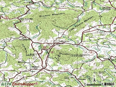 Jefferson topographic map
