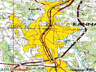 Kannapolis topographic map