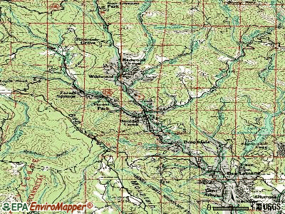 Boulder Creek topographic map