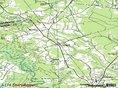 Kelford topographic map