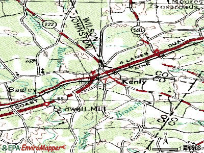 Kenly topographic map