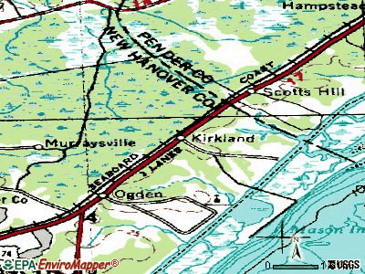 Kirkland topographic map