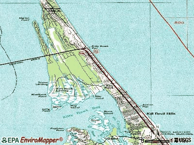 Kitty Hawk topographic map