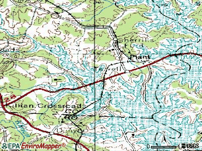 Lake Norman of Catawba topographic map