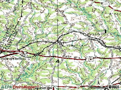 Lattimore topographic map
