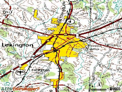 Lexington topographic map