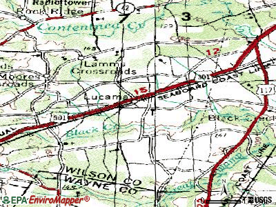 Lucama topographic map