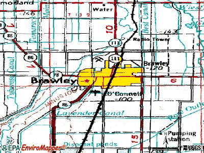 Brawley topographic map